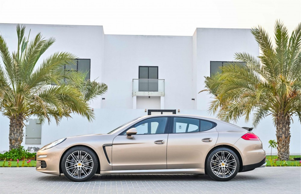 buy slightly used Porsche Panamera without downpayment