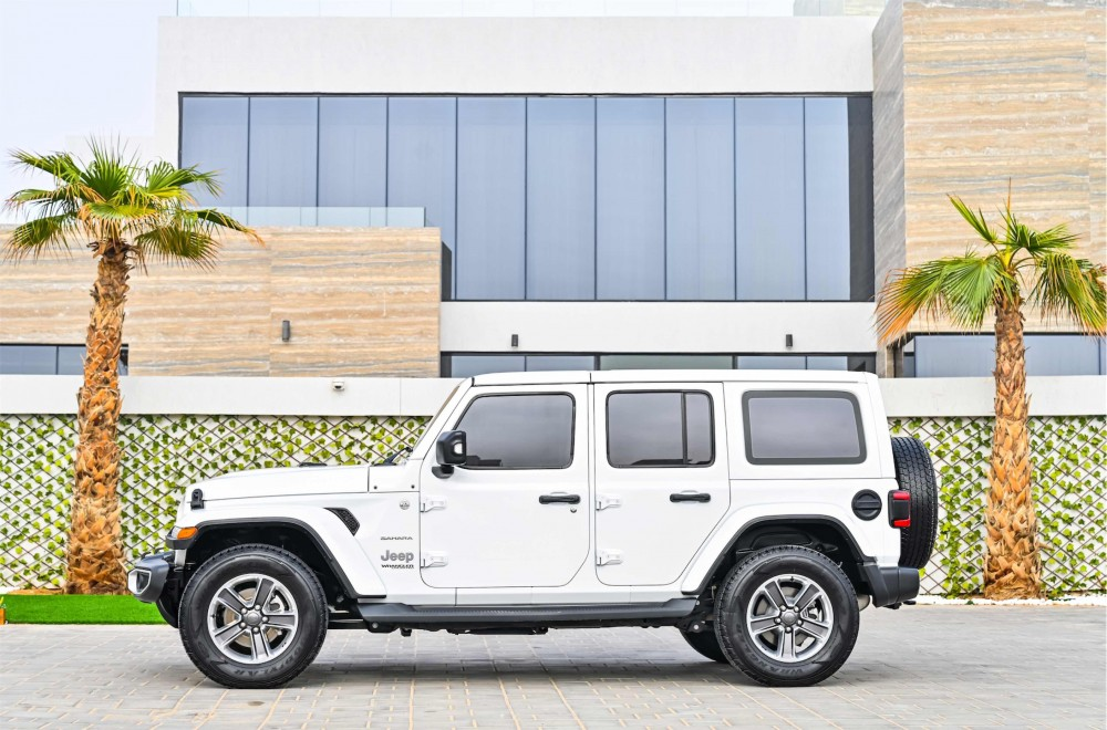 buy second hand Jeep Wrangler Sahara Unlimited without downpayment